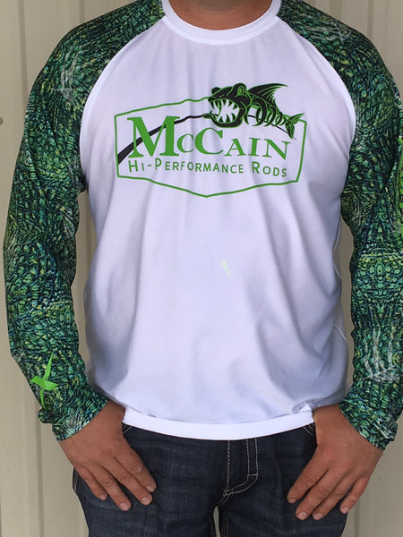 MHP Long Sleeve Fishing Shirts/ White Xotic