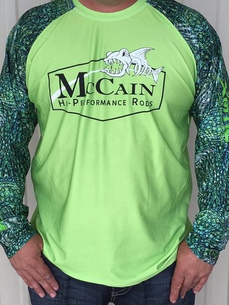 MHP Long Sleeve Fishing Shirts/ Green Xotic