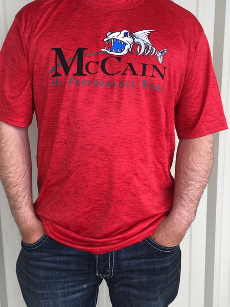 MHP Short Sleeve Fishing Shirts/ Red
