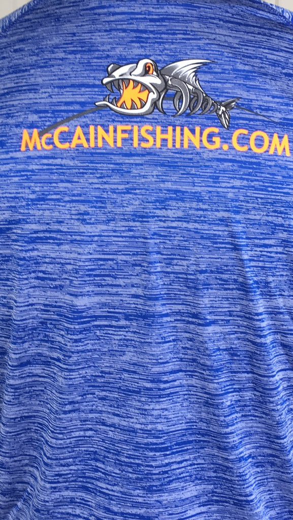 MHP Long Sleeve Fishing Shirts/ Blue