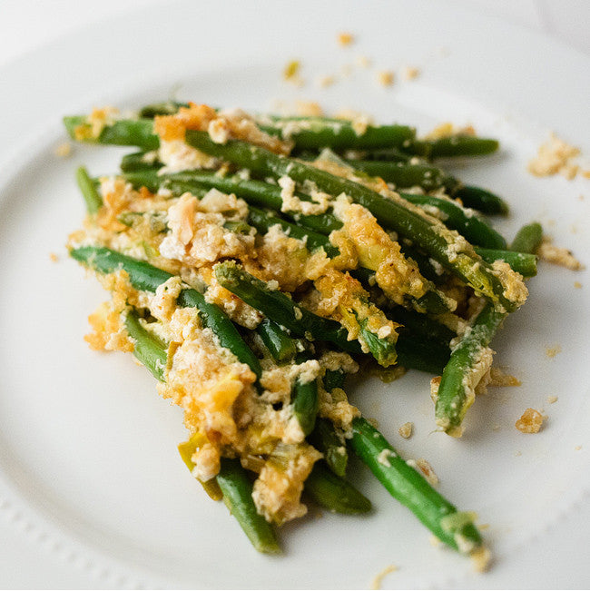 Crispy Protein-Packed Green Bean Casserole