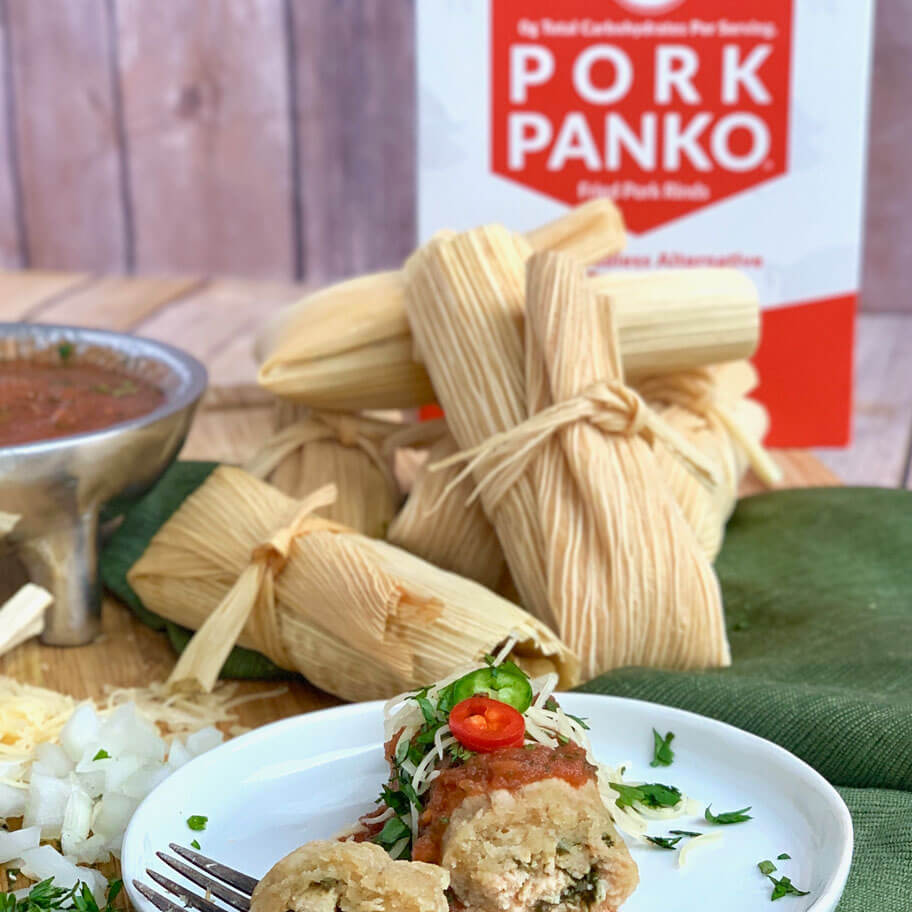 Low Carb Instant Pot Tamales with Pork Panko Masa
