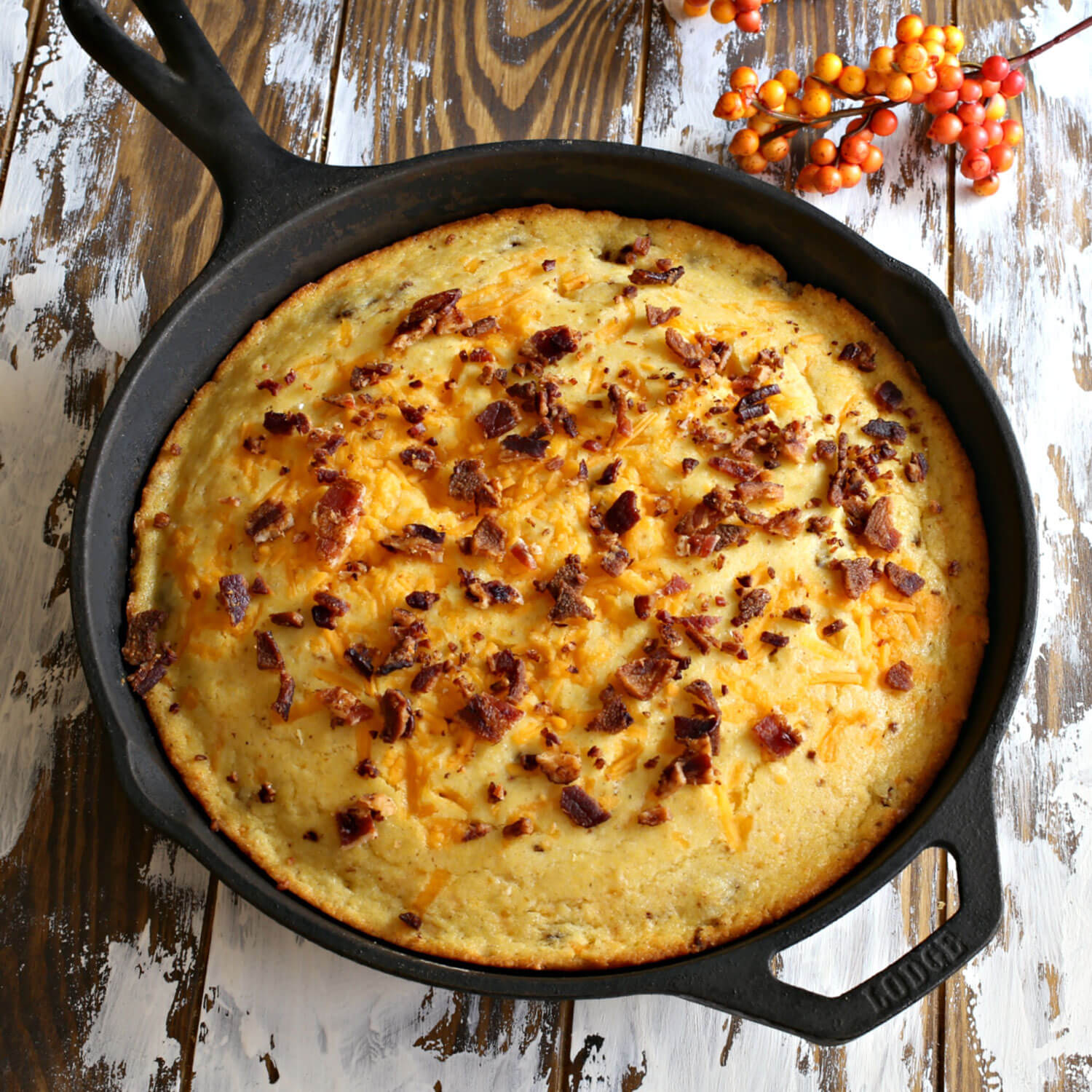 Bacon Cheddar Cornbread and Sausage Stuffing