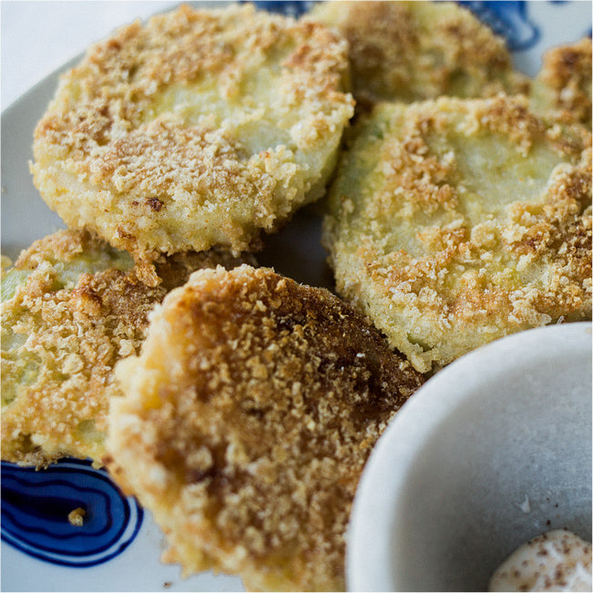 Pork Rind Fried Green Tomatoes