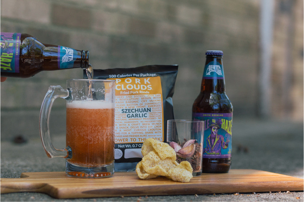 Szechuan Garlic Pork Rind Beer Pairing