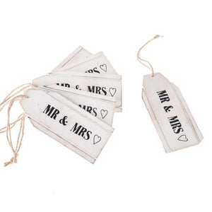 Mr and Mrs Wooden tags