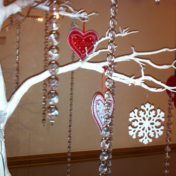 White 5ft Tree with fairy lights (click for some ideas) - Wedding Sparkle - wedding - event - hire