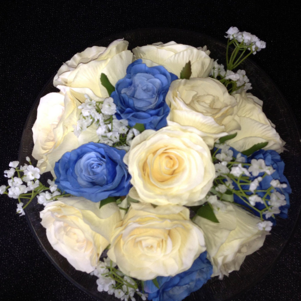 Martini glass blue & cream rose - Wedding Sparkle - wedding - event - hire