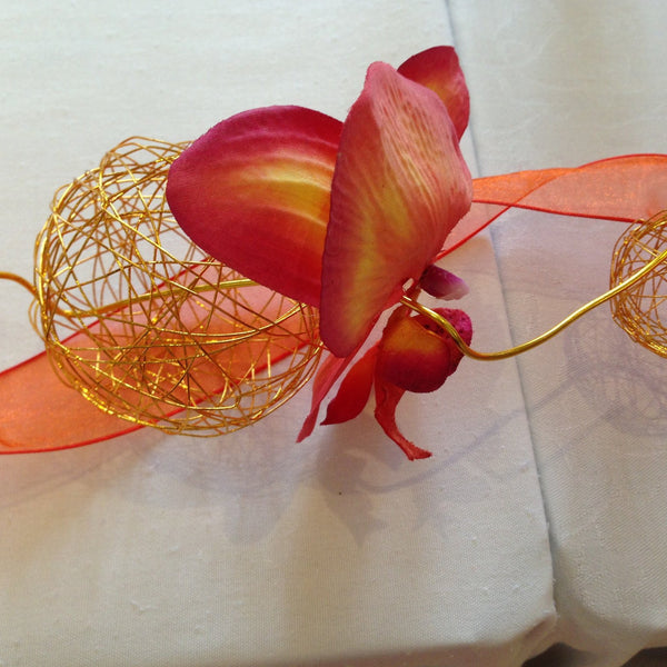 Top Table Orange Orchid - Wedding Sparkle - wedding - event - hire