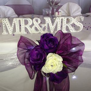 Top Table Mr & Mrs - Wedding Sparkle - wedding - event - hire