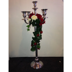 Candelabra with Red and Ivory Roses collect and return hire - Wedding Sparkle - wedding - event - hire