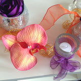 Top Table Orange Orchid Mix - Wedding Sparkle - wedding - event - hire