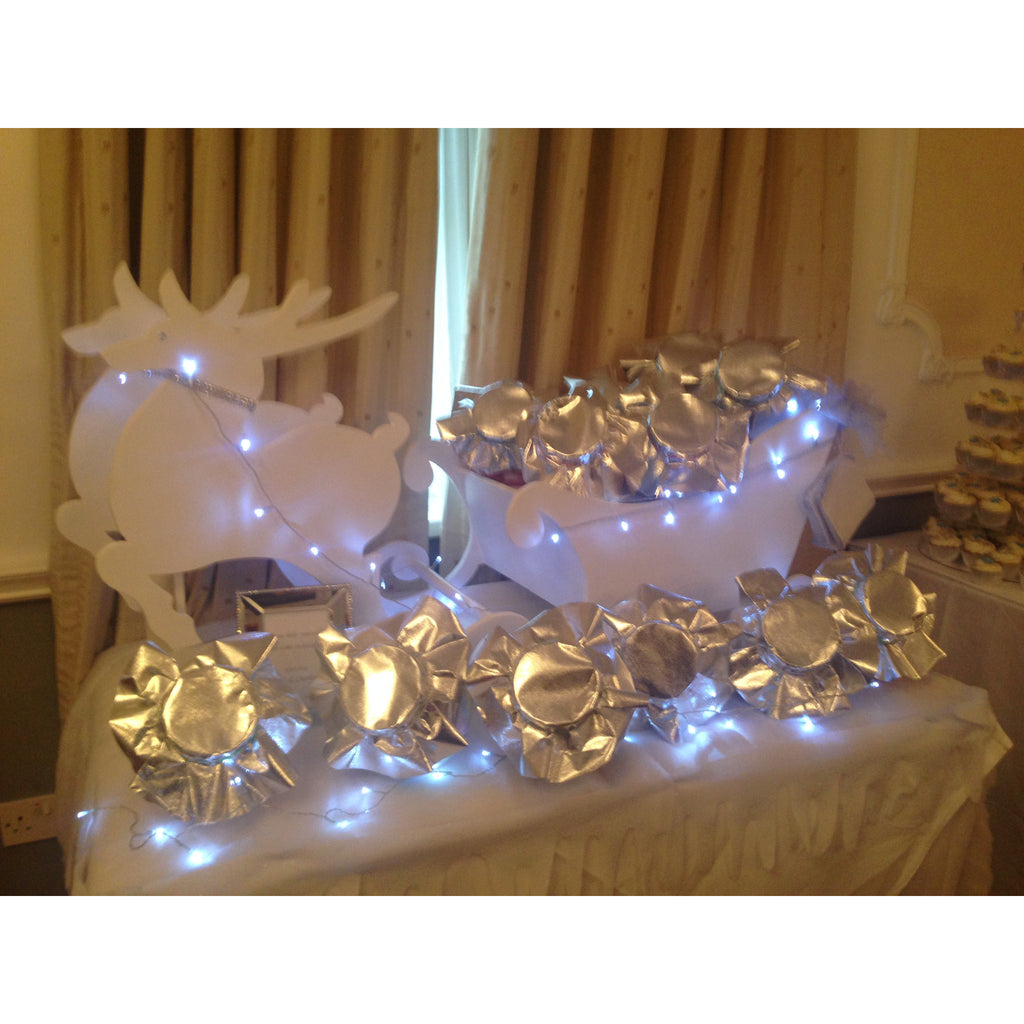 Candy,  Reindeer & Sleigh collect and return hire - Wedding Sparkle - wedding - event - hire
