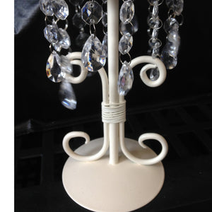 Candle Holder - Cream Vintage with Crystals collect and return hire - Wedding Sparkle - wedding - event - hire