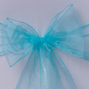Turquoise organza Table Runner - Wedding Sparkle - wedding - event - hire