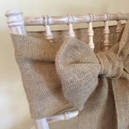 Hessian sash collect and return hire
