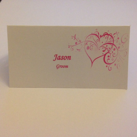 Name Cards Hearts - Wedding Sparkle - wedding - event - hire