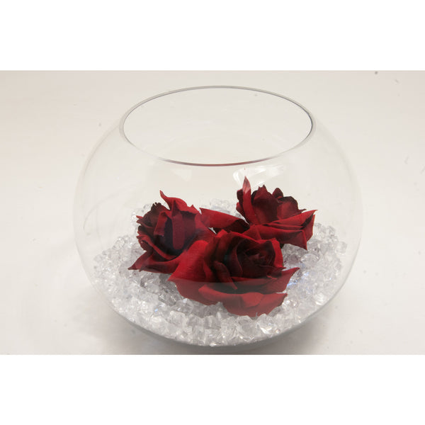 Fish bowl wedding centrepiece with Red Roses and choice of bear grass - Wedding Sparkle - wedding - event - hire
