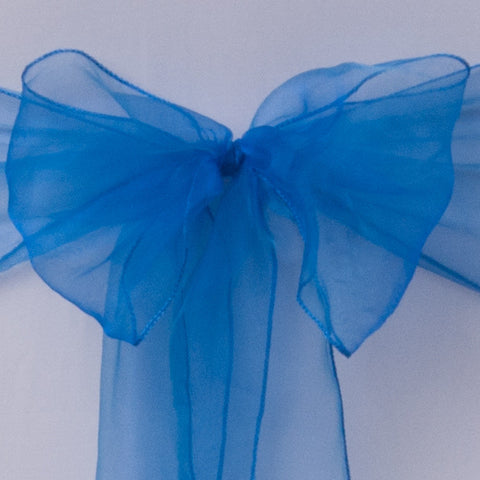 Royal blue organza Table Runner - Wedding Sparkle - wedding - event - hire