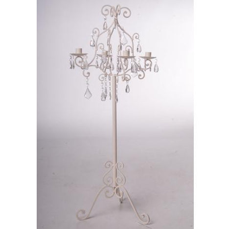 Candelabra Cream and Droplets collect and return hire - Wedding Sparkle - wedding - event - hire