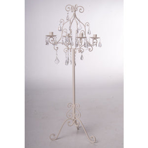 Event Hire  Candelabra Cream and Droplets - Wedding Sparkle - wedding - event - hire