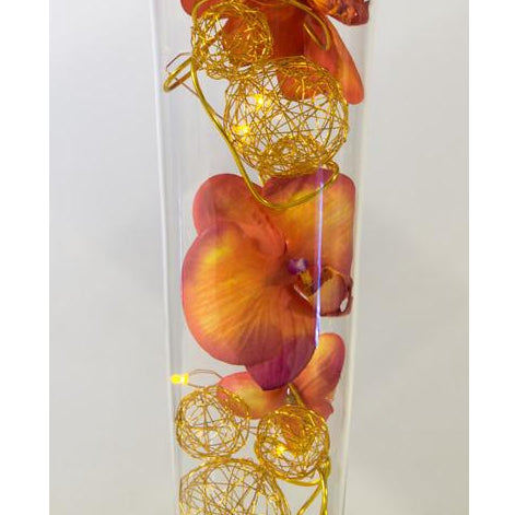 Tulip Vase - Orange & Gold - Wedding Sparkle - wedding - event - hire