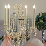 Wedding Package Cream Vintage Candleabra Centerpeice - Wedding Sparkle - wedding - event - hire