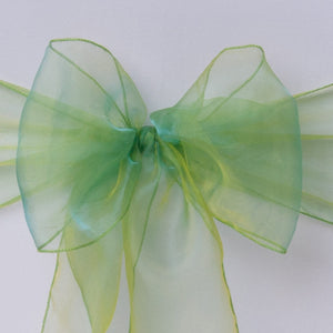 Chair cover with apple green organza sash collect and return hire - Wedding Sparkle - wedding - event - hire