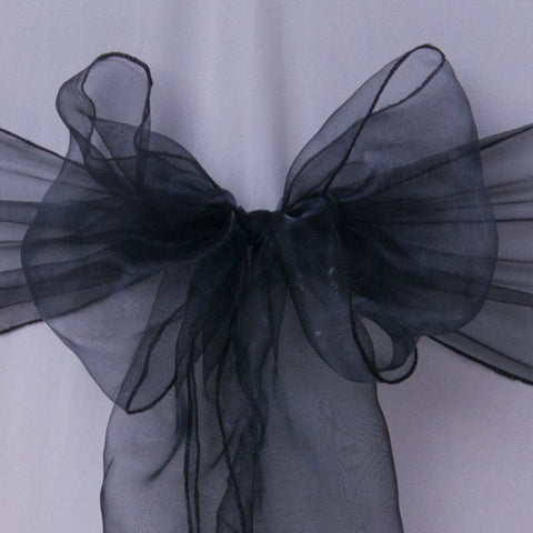 Chair cover with black organza sash collect and return hire - Wedding Sparkle - wedding - event - hire