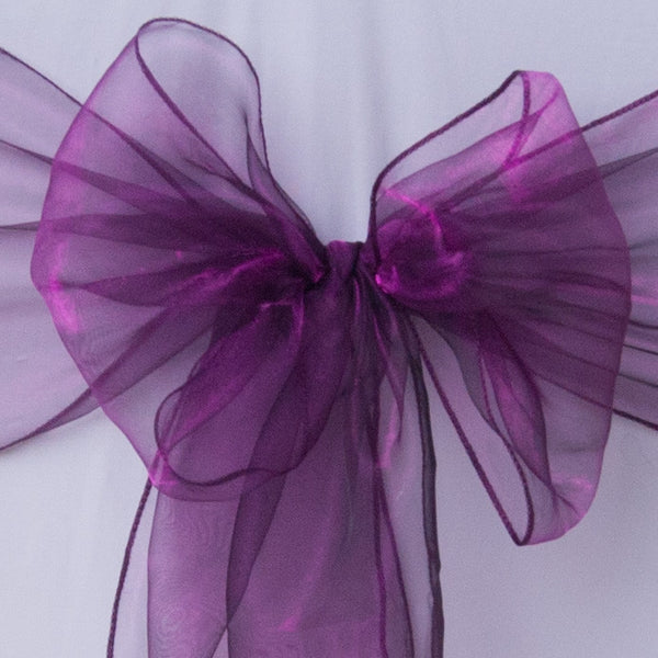 Cadbury purple organza sash collect and return hire - Wedding Sparkle - wedding - event - hire
