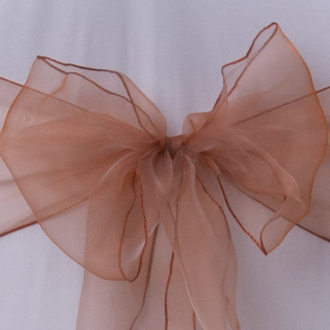Chair cover with caramel sash collect and return hire - Wedding Sparkle - wedding - event - hire