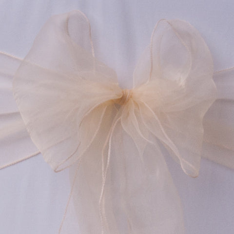 Deep cream sash collect and return hire - Wedding Sparkle - wedding - event - hire