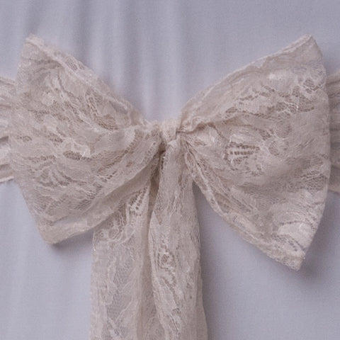 Cream lace sash collect and return hire - Wedding Sparkle - wedding - event - hire