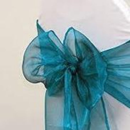 Deep Teal Shiny Sash Hire