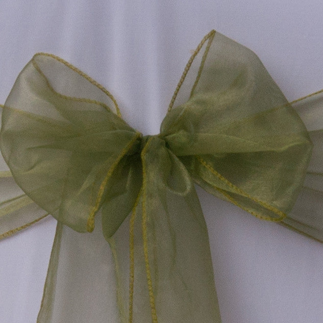 Chair cover with Forest Green organza sash collect and return hire - Wedding Sparkle - wedding - event - hire
