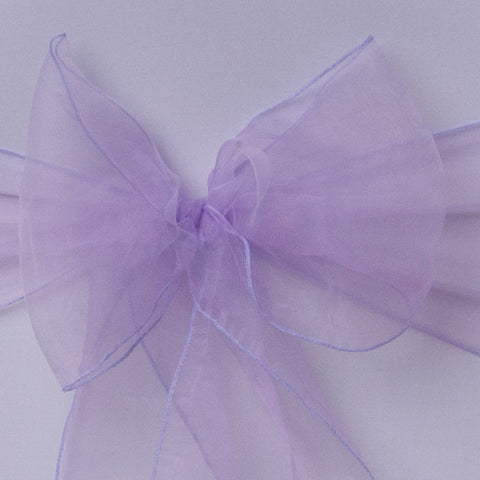 Chair cover with lilac organza sash collect and return hire - Wedding Sparkle - wedding - event - hire