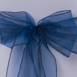 Navy blue organza Table Runner - Wedding Sparkle - wedding - event - hire
