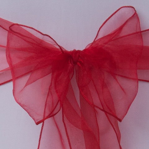 Red organza Table Runner - Wedding Sparkle - wedding - event - hire
