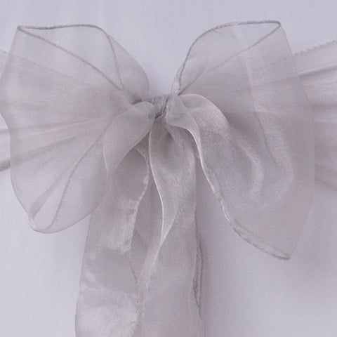 Chair cover with silver organza sash collect and return hire - Wedding Sparkle - wedding - event - hire