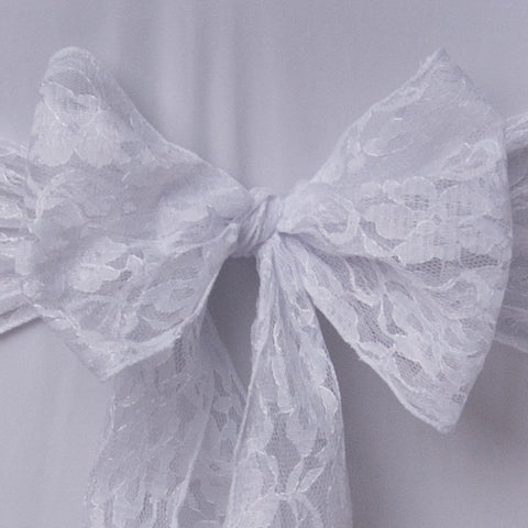 White lace sash Table Runner - Wedding Sparkle - wedding - event - hire