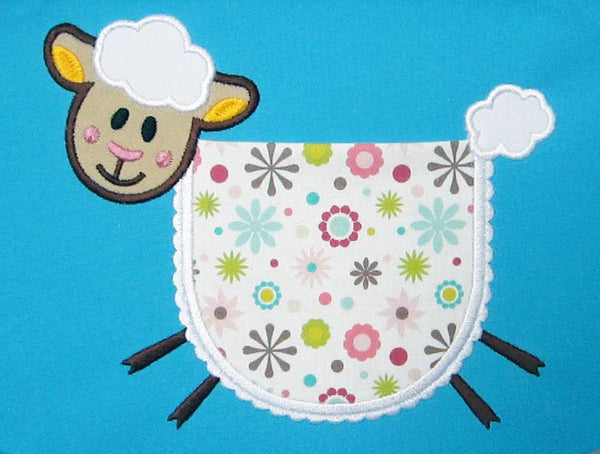 Lamb Real Pocket Applique ITH Project ITH006