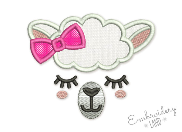 Llama Girl Applique AN055