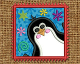 Christmas Penguin The Hoop Project Applique CHR029