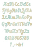 Narrow Script Applique Alphabet AL053
