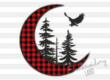 Twilight Moon ZIgZag Applique DE088