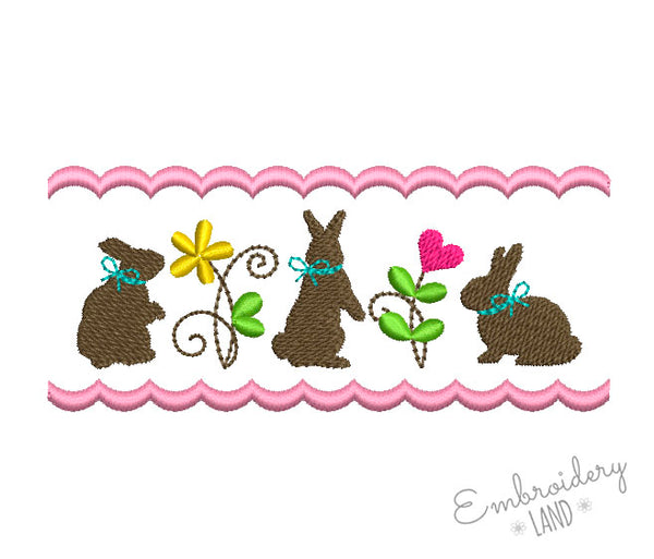 Cute Bunnies Ornament EA012