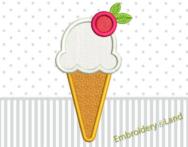 Ice Cream Applique DE034