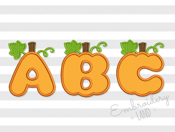 40% off! A-Z Pumpkin Applique Alphabet AL055