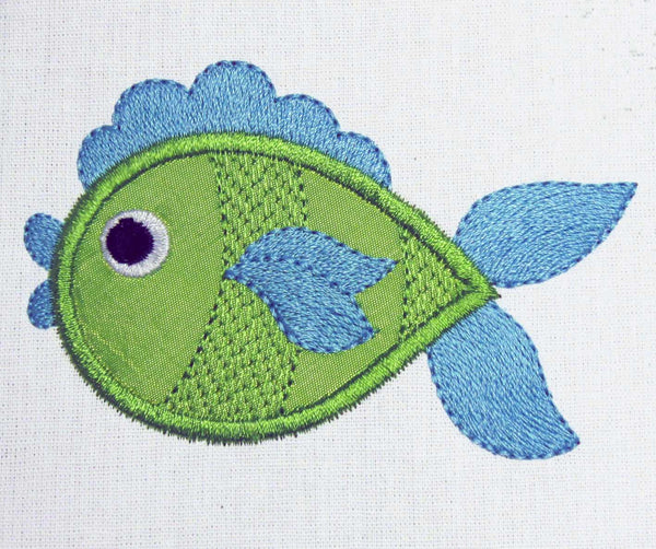 Fish Embroidery Applique Machine Embroidery Design AN006