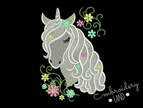 Flowers Unicorn AN062